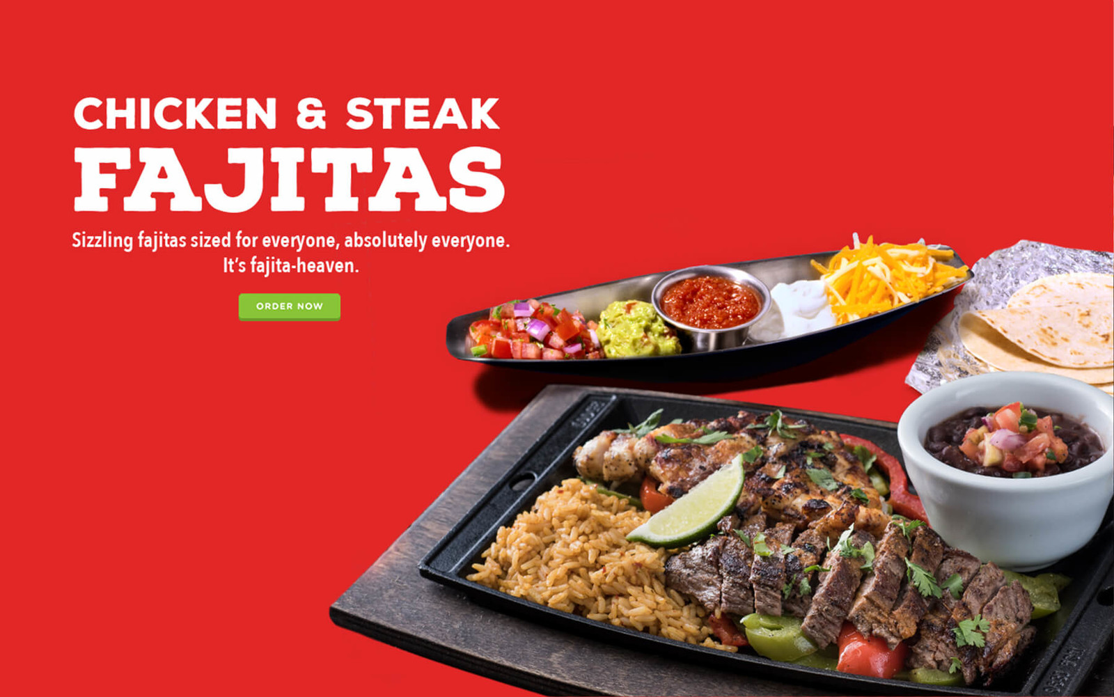 Chicken, Steak & Shrimp Fajitas - Sizzling fajitas for everyone at Chili's. It's fajita-heaven!.