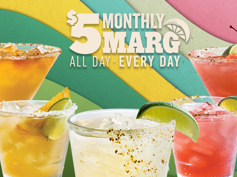 $5 Margarita of the Month special